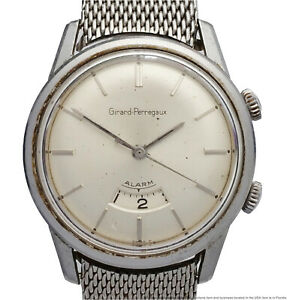 Girard Perregaux Vintage 1950s Scarce Alarm Mens Wrist Watch
