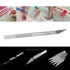 Precision Handle Crafts Sharp Cutting Carving Knife+ 5 Rechargeable Blade
