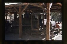 RUSTIC OLD ANTIQUE TRAIN STEAM ENGINE  VTG 35mm ABSTRACT PHOTO SLIDE
