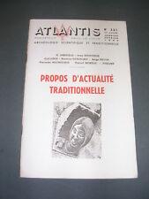 Esotérisme Revue Atlantis Janvier Février 1964 propos d'actualité traditionnelle