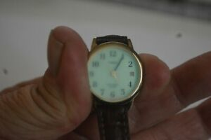 Vintage TIMEX Indiglo K6 Watch Quartz Date Ladies 25 mm 8 In Leather Strap Used