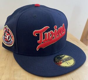 Minnesota Twins 50th Prime New Era Grey UV not hat club 7 5/8 Sold Out WOOL