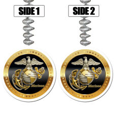 US Marines Party Supplies MARINE CORPS GOLD EAGLE HANGING DANGLER DECORATIONS