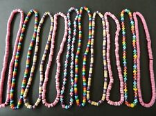 WHOLESALE BEAD NECKLACE SET OF 10 NEW Job lot Bundle Girls Party Bag Filler Gift