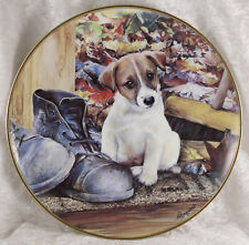 Jack Russell Terrier Sole Mate by M Haywood by Danbury Mint plate pedigree dog