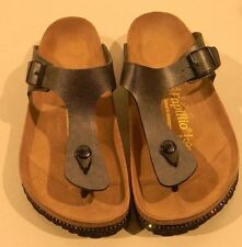 Papillio by Birkenstock Womens Shoe Leather Sandal Thong Gizeh Black with Studs