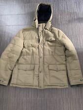 Crew Clothing Men's Winter Coat Jacket, XXL 2XL Padded Warm Hooded Green Khaki