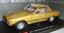 Sunstar 1/18 Scale - 4609 Mercedes Benz 350SL Hard Top Coupe - Icon Gold