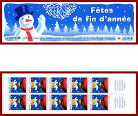 France carnet 1996,non-plié, Croix-Rouge, Fêtes de fin d'année, 2045 (3039a) **