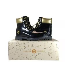 Timberland women's 6IN WP black patent leather Size 9.5M New