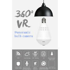 WiFi Bulb Security Camera - Wireless Cam Night Vision LED Light 360° Panoramic