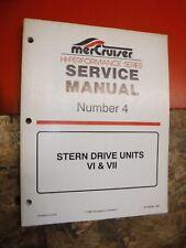 1996 MERCRUISER STERN DRIVE UNITS VI & VII FACTORY SERVICE MANUAL #4 HI PERFORM