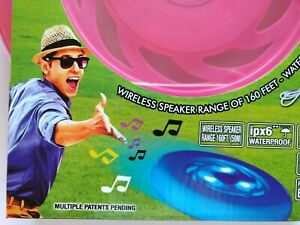 LED Music Flying Disc Frisbee Wireless speaker Rechargeable - Pink