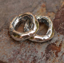 One Rustic Artisan Thick Link, Cathy Dailey Sterling Silver Findings