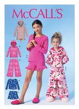 McCall's Sewing M7041 SZ 3-6 Children's Girls' Easy Top Hoodies Shorts Pants