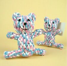 Pet puppy  cotton rope knitted Bear grinding clean teeth dog toys