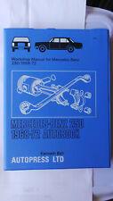 MERCEDES 250 WORKSHOP MANUAL FISHBOWL 250/8 W114 1968 - 1972 250C