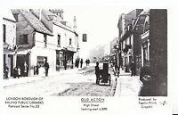 London Postcard - Ealing - Old Acton - High Street Looking East c1890  -  U724