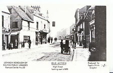 London Postcard - Old Acton - High Street Looking East c1890    U724
