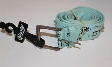 RUSTY BELT SIZE SMALL CANVAS ICE BLUE STYLE TRASHED BELT SPIKES