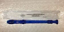 BAROQUE SOPRANO RECORDER ZONDA THREE PIECE BLUE