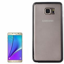 Custodia cover back case Tpu semitrasparente NERO per Samsung Galaxy Note 5