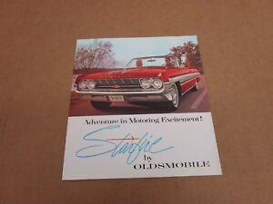 1961Oldsmobile Starfire sales brochure literature 6 pg folder ORIGINAL