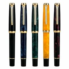 HongDian 960 Retro Resin Fountain Pen, Nebula Series Ef/ F Nib Writing Pen Gift