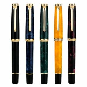 HongDian 960 Retro Resin Fountain Pen, Nebula Series EF/ F Nib Writing Pen Gift