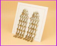 Stella Style DEVON CHANDELIERS EARRINGS Pale GOLD Dangle Party US Seller