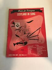 Music For Everyone Scotland in Song No. 8 vintage 1953 Remick Music songbook