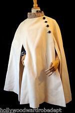 Cape cream ivory wool VTG handmade ooak hand knit trim shrug victorian steampunk