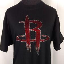Women's Houston Rockets Rhinestone Basketball  T Shirt bling Ladies