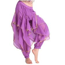 Belly Dance Costume Tribal Trousers Wave Beads Harem Pants Skirt Dancing Costume