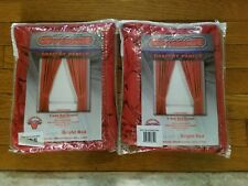 """Sports Coverage MLB Bright Red Window Curtain Panels Set of 2 Phillies 82"""" x 63"""""""