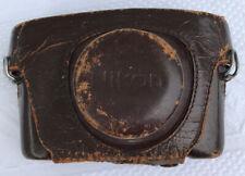 Nikon Early rangefinder Vintage Brown Genuine Leather Hard Camera Case