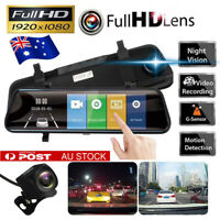 10'' 1080P Car Rear View Camera Mirror Recorder DVR Dash Cam G-Sensor Dual