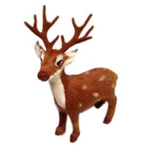 Hirsch stehend Weihnachtsdeko Reh Bambi Hirsch Krippe Adventskranz Tischdeko (4)