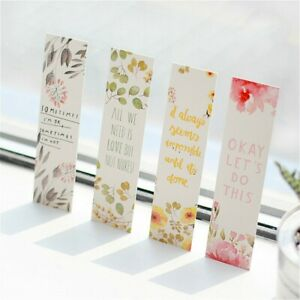 Flowers Bookmarks Book Notes Paper Page Holder for Books 1 Pcs ANY RANDOM