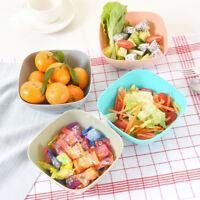 6 Color Food-Grade Plastic Square Fruit Snack Candy Salad Plate Bowl Dish Basket