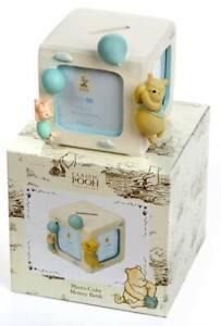 Classic Pooh Blue Photo Cube