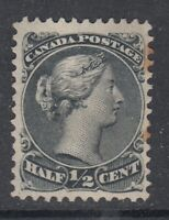 "Canada MINT NG Scott #21  1/2 cent black ""Large Queen"""