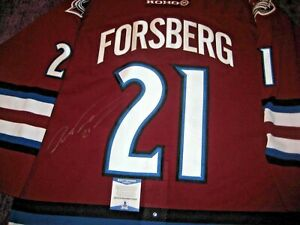 PETER FORSBERG Signed AVALANCHE KOHO AUTHENTIC GAME JERSEY w/ Beckett COA
