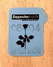 Depeche Mode World Violation Tour satin After Show pass 08 04. Black Rose Logo