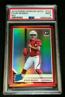 PSA 9 KYLER MURRAY RC /99 *RED PRIZM *RATED ROOKIE BASE *2019 Donruss Optic #152