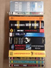 12 Mixed Lot Cassette Audiobooks 2-Chris Reich, 2-Kathy Reichs, Gene Riehl, + 7