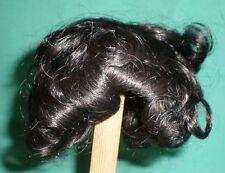 "doll wig/ human hair 4"" x 6"" black/weaving"