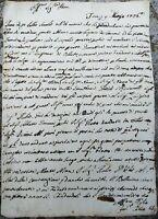 1776 181) LETTERA SU NASCITA REGGENTE D'UNGHERIA GIUSEPPE D'ASBURGO LORENA