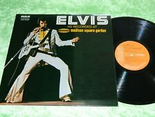 ELVIS PRESLEY : Recorded at Madison Square Garden - Orig 1972 UK issue LP NM 198