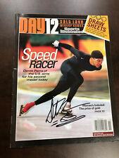 Derek Parra Signed 2002 Winter Olympics Program Gold Medal
